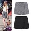 Envío Gratis Primavera verano 2016 nueva harajuku coreana era delgada falda de volantes cortos faldas para mujer