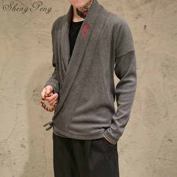 Traditional chinese clothing for men long sleeve shirt oriental clothing traditional chinese men clothing shanghai tang CC212