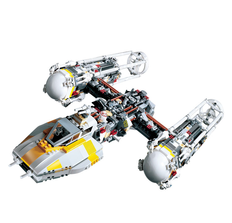 Lepin 05040 Star Series Wars Y Star wing Attack fighter Building Assembled Block Brick DIY Toy Compatible 10134 Educational Gif lepin 05040 star series y toy wing set attack fighter educational building block assembled brick compatible with war toys 10134