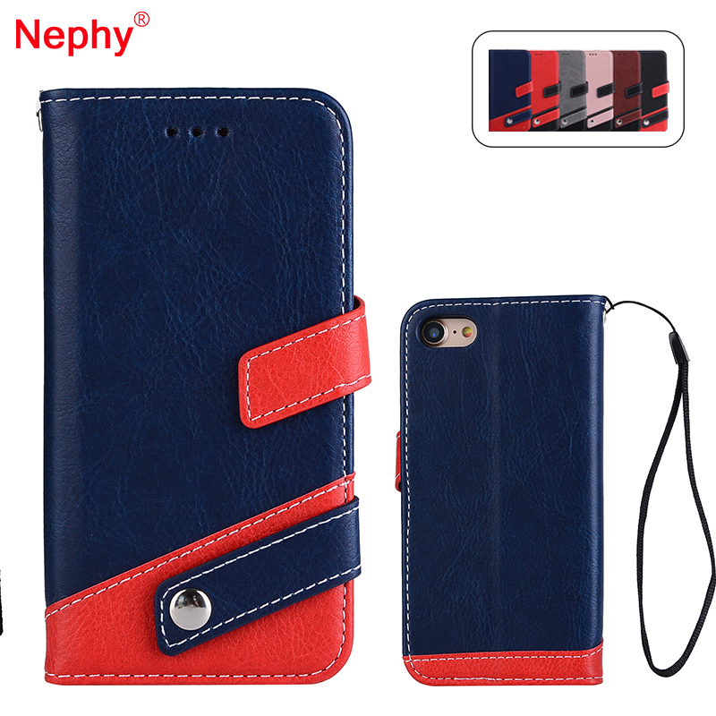 Nephy Case For iPhone 6 6s 7 8 Plus Luxury Splice style Filp PU Leather Bag For iPhone X 5 5s se Phone Protective Bumper Cover