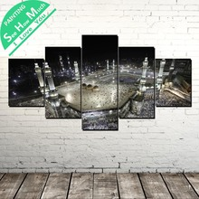 5 Piece Holy Land Wall Art Canvas Poster and Print Painting Decorative Picture for Living Room
