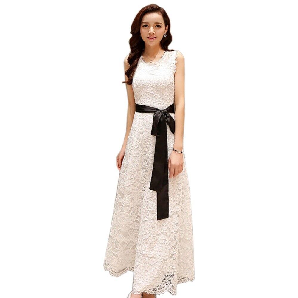 38c11ba305c73 Tengo ماركة الشاطئ الكروشيه الدانتيل فستان مثير طويلة فساتين النساء حجم  كبير الصيف فستان السهرة مخرمة أسود أبيض