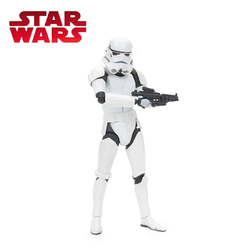 Box 15.5cm Star Wars Toy Series No 002 White Stormtrooper REVO PVC Action Figure Anime Figures Collection Model Dolls Toys star wars stormtrooper cosplay glasses for children pvc action toy figures model toy