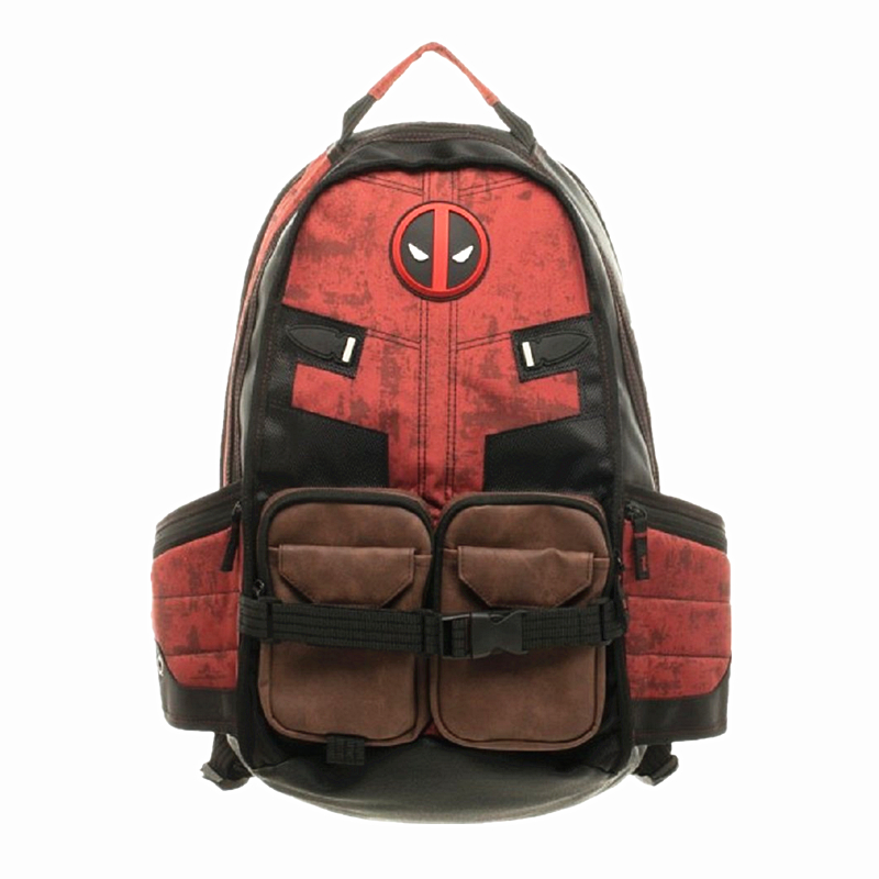 Marvel Comics Deadpool Backpacks Mochila Masculina Super Hero Movie Civil War School Laptop Bag Bagpack Unisex School Bucksack batman detective comics volume 9 gordon at war