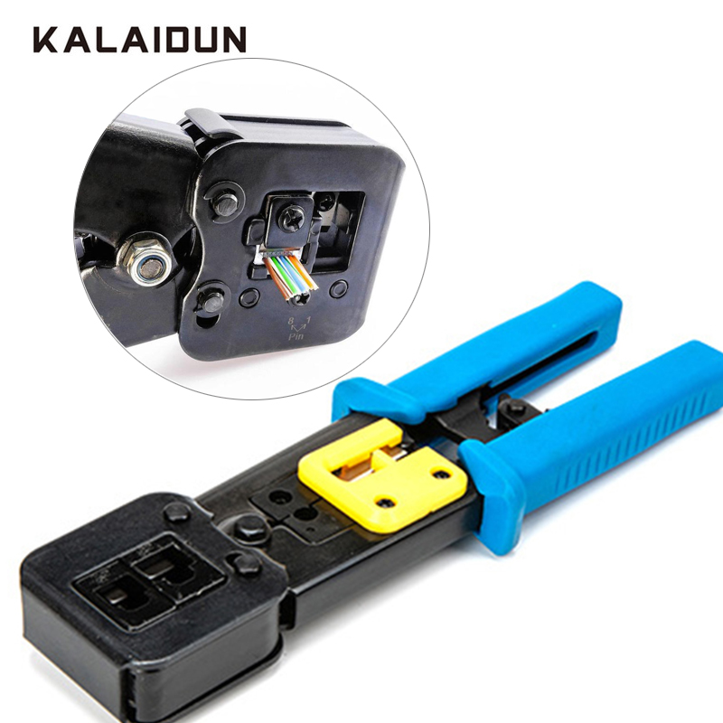 KALAIDUN crimper EZ rj45 Networking Tools Cable Stripper press pliers multi-function Crystal Head Crimping Dual-purpose PliersKALAIDUN crimper EZ rj45 Networking Tools Cable Stripper press pliers multi-function Crystal Head Crimping Dual-purpose Pliers