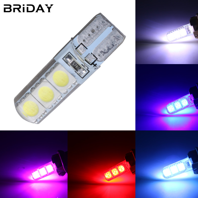 NEW 1pc T10 W5W LED 194 WY5W 5050 SMD Silica gel Waterproof Wedge Light Car marker light reading dome Auto parking bulbs 12V 2pcs brand new high quality superb error free 5050 smd 360 degrees led backup reverse light bulbs t15 for jeep grand cherokee