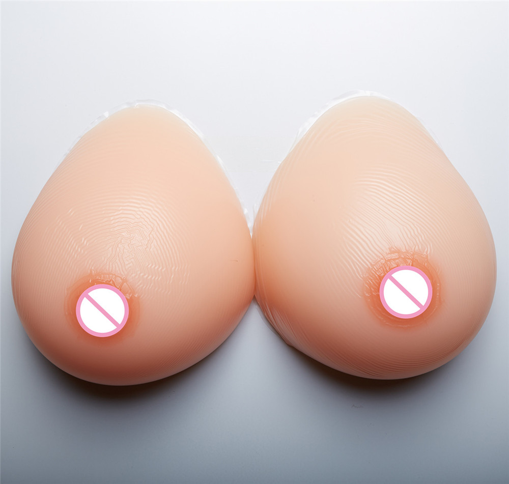 2000g/pair Natural Hanging Silicone Artificial Breast Forms Masturbator Boobs Shemale Fake Chest Enhancer Cup 42E/44DD/46D