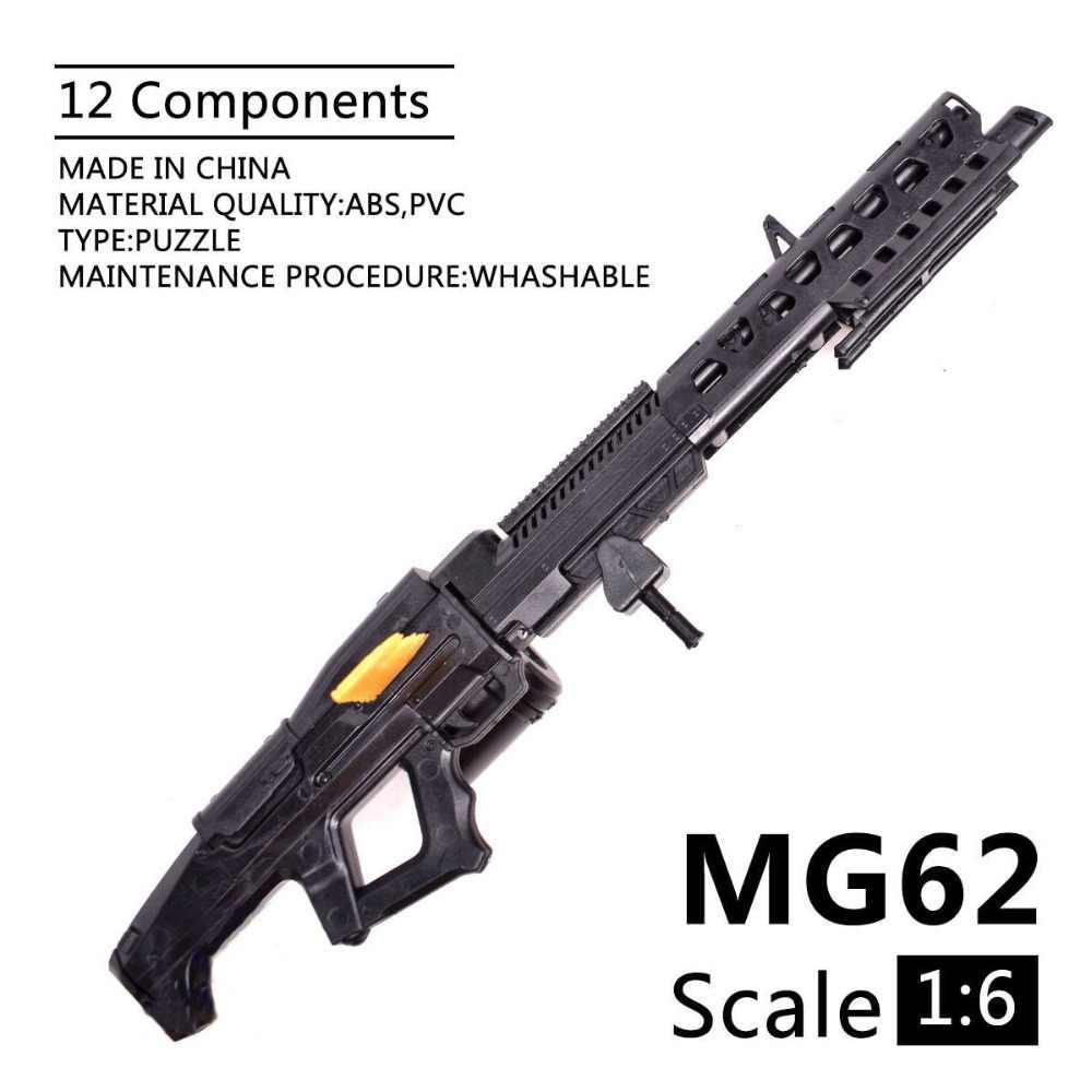 1:6 Escala 1/6 polegada Figuras de Ação Avatar 12 MG62 Pesado Máquina Mini Modelo Arma de Uso Para 1/100 MG Gundam Bandai airsoft Pistola de Ar