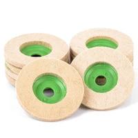 10Pcs 100mm Wool Felt Polishing Buffing Pad Abrasive Polishing Wheel For Grinder Rotary Tool