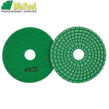 цена на SHDIATOOL 10pcs Dia 4/100mm Grit 800# Diamond Flexible Wet Polishing Pad Stone Polishing Resin Bond Sanding Discs Polisher Pad