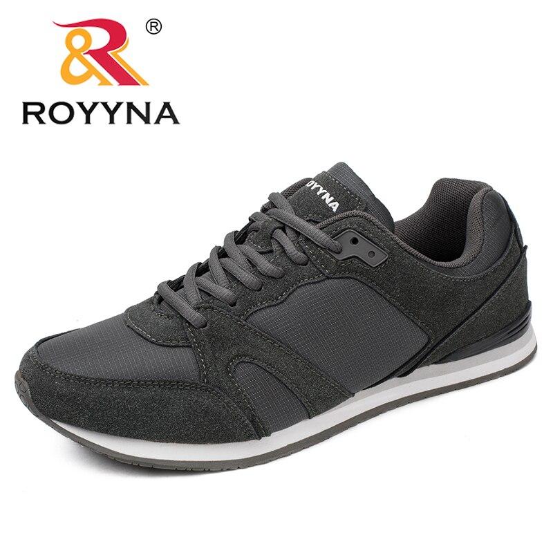 ROYYNA Primavera Outono New Style Men Casual Shoes Lace Up Homens Sapatos Sapatos Respirável Confortável Masculino Rápido Frete Grátis