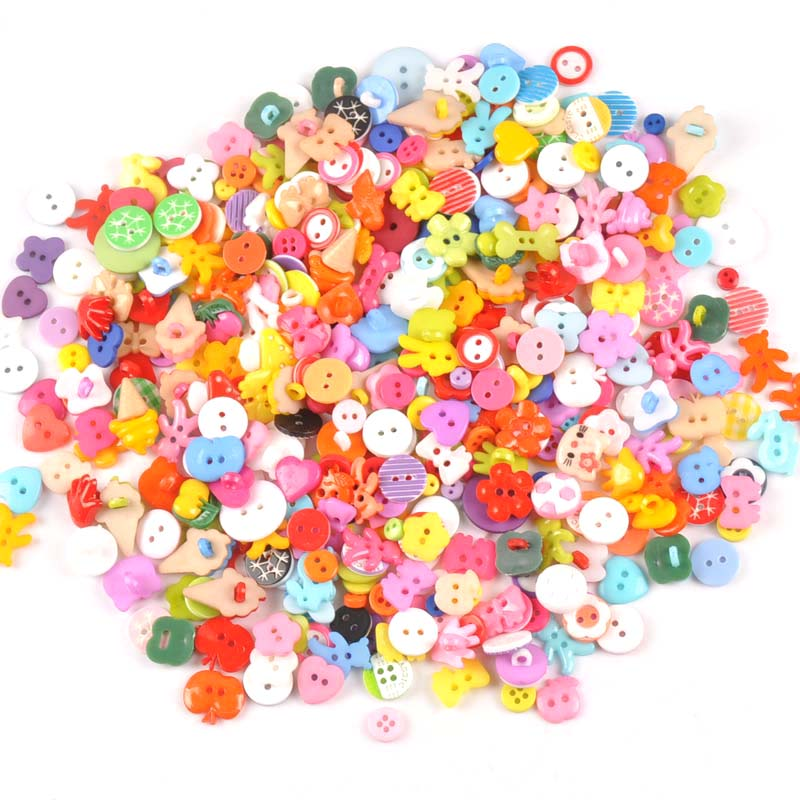 100pcs 10-40mm Mixed colour acrylic Buttons Decorative For Sewing Clothing DIY Crafts Scrapbooking acrylic Button M1895