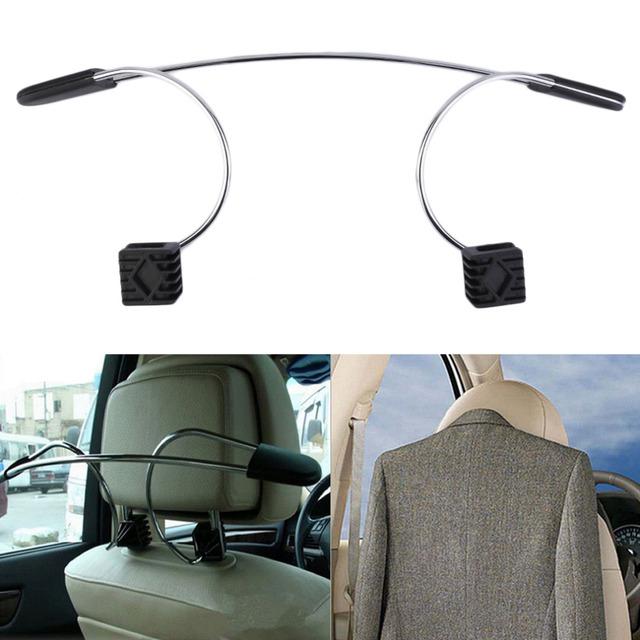 Frete Grátis 1 pc Aço Inoxidável Assento de Carro Auto Cabide Headrest Roupas Casacos Ternos Titular