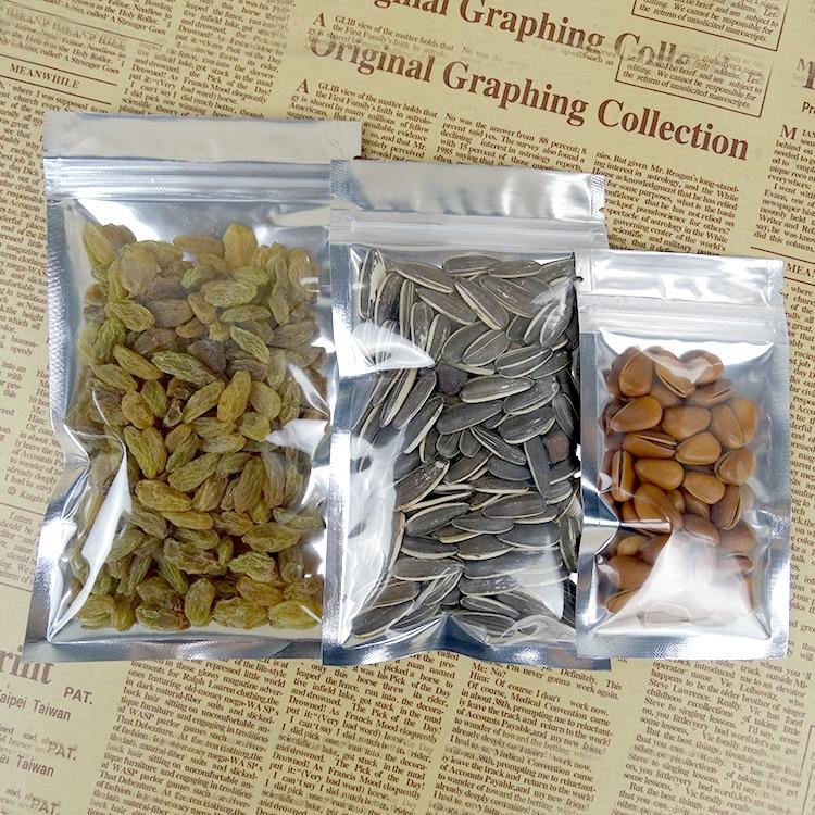 26*38 см, 100 x прозрачный покрытие алюминия Ziplock мешок, resealable лавсановая пленка сумки молния гриль уплотнение передней ясно едой