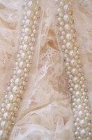 5 8 Yards On Big Sale Pearl Beaded Lace Trim Beads Rhinestone Trimming For Sash Headband