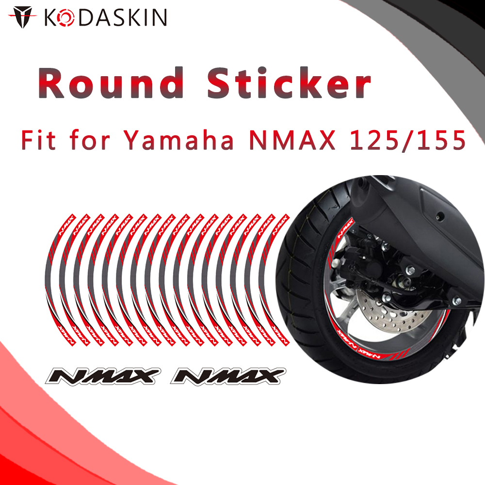 KODASKIN Motorcycle 2D Emblem Round <font><b>Sticker</b></font> Decal Big Wheel Rim for <font><b>Yamaha</b></font> <font><b>NMax</b></font> 125/155 image