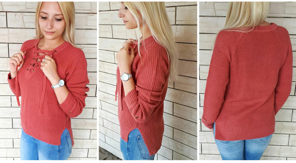 c34edbd8772 Sweater Women Pullover Long Sleeve Knitted jumper Sexy Tops Winter Women's  Sweaters Knitwear Pull Femme Hiver 17 GAREMAY