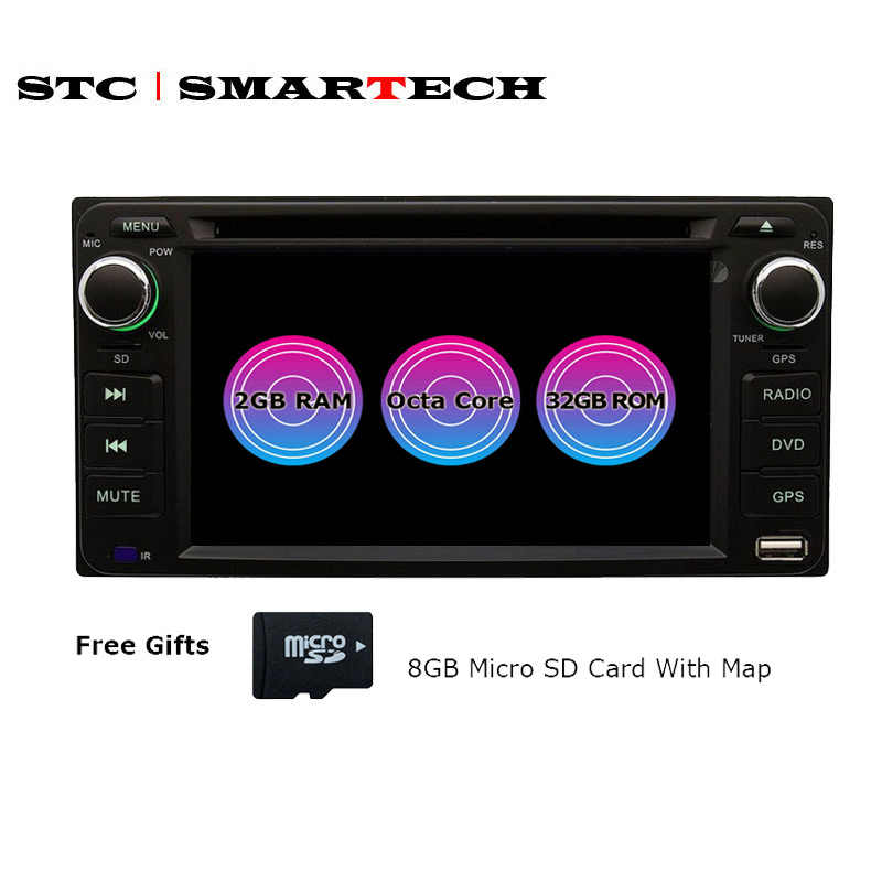 SMARTECH 2Din Android 7.1 Octa Core 2GB RAM 32GB ROM Car DVD Radio GPS navigation For Toyota Corolla Hilux Camry Prado Autoradio