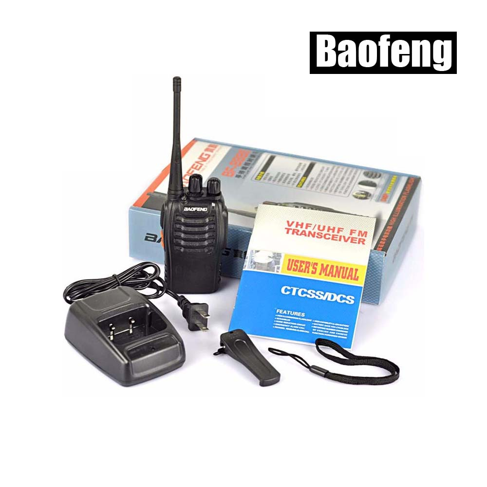 BAOFENG BF-888S UHF: 400-470MHz Professionelles tragbares Funkgerät Baofeng BF 888S Walkie Talkie mit Hörer