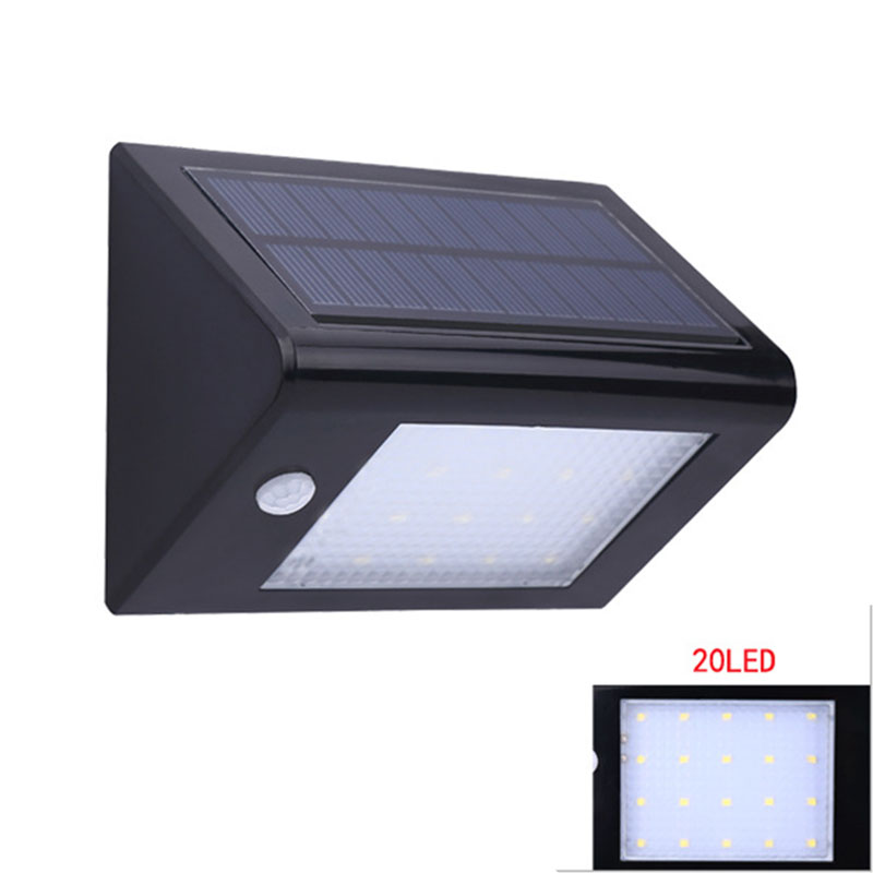 Outdoor LED Light Solar Powered Night Light Wall Mounted