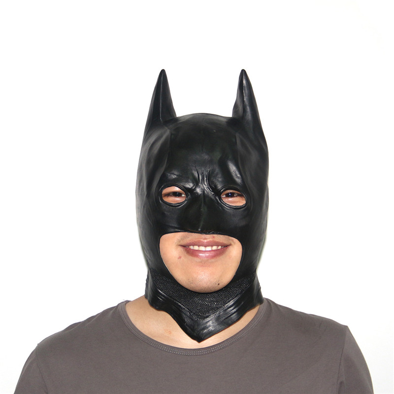 high quality miss the classic batman masks halloween mens rubber adult full costume party mask cosplay - Cool Masks For Halloween