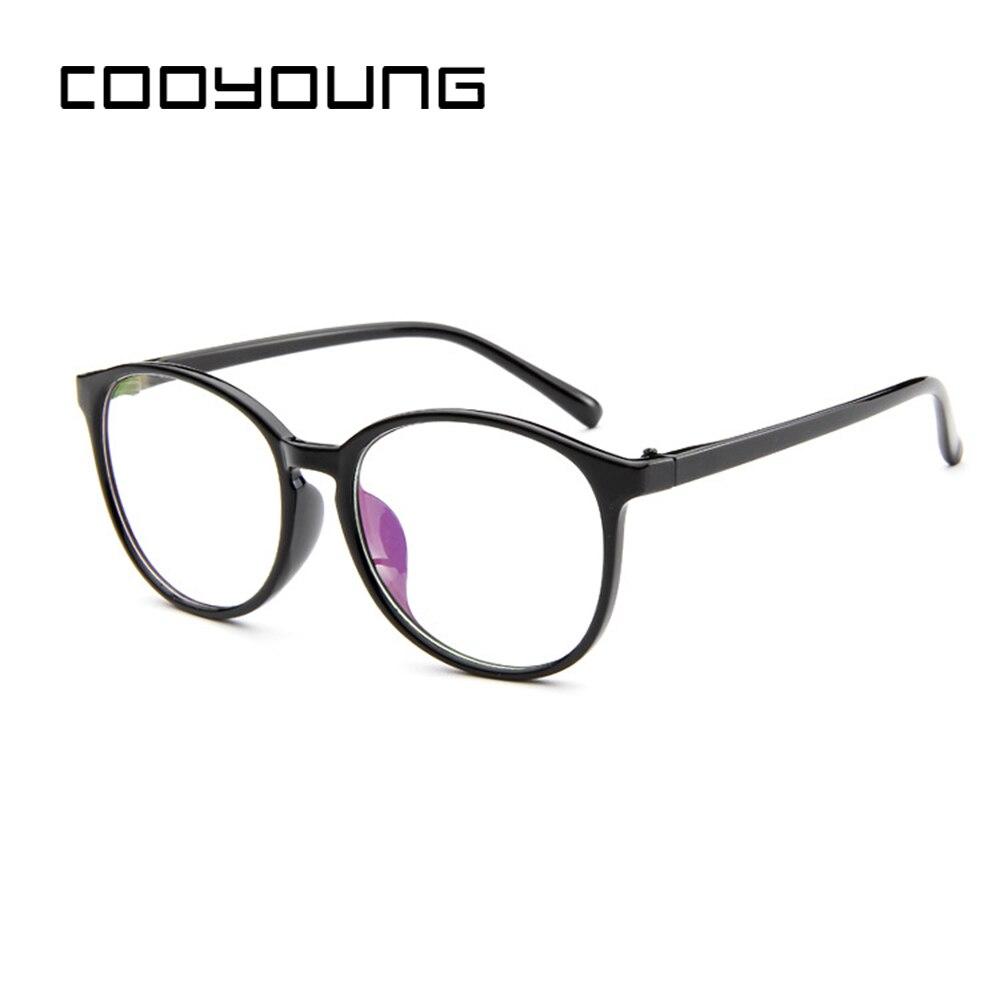 Cooyoung Mode Optische Gläser Brillen Rahmen Frauen Vintage Brillen Klar Metall Oculos De Grau Feminino GläNzende OberfläChe Damenbrillen