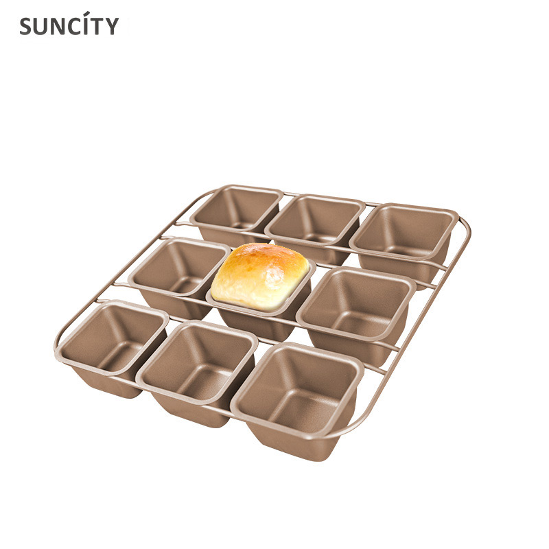 9 CupS Nonstick Metal Pudding Cupcake Mould Fondant Kitchen Bakeware 3D Baking Bread Pan Muffin Cupcake Mould Tins Baking Tool
