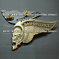 New Arrived Hells Angels pins badges for Clothing jacket Motor Skull badges pin Vest metal badges pins of gold plated
