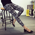 2016 spring summer fashion elephant printed women's floral legging Women black blue gray Leggings lady lovely trousers