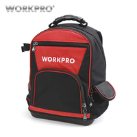WORKPRO 17 Tool Bag Tools Storage Bags Waterproof Backpack with Handbag Multifunction Bags