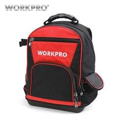 Workpro 17 ferramentas saco de armazenamento sacos mochila à prova dwaterproof água com bolsa multifuncional sacos