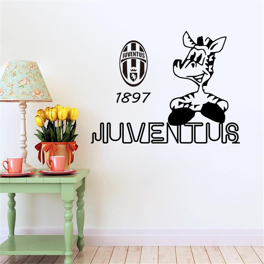 aliexpress : acquista juventus calcio creativo adesivi murali