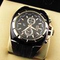 1pc 2017 new fashion men male sports watch wrist clocks hour rubber strap Quartz Wristwatches military watch big dial gift H3
