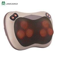 JinKaiRui Infrared Heating Electric Kneading Shiatsu Vibrator Neck Shoulder Back Body Massager Pillow Car Chair Home