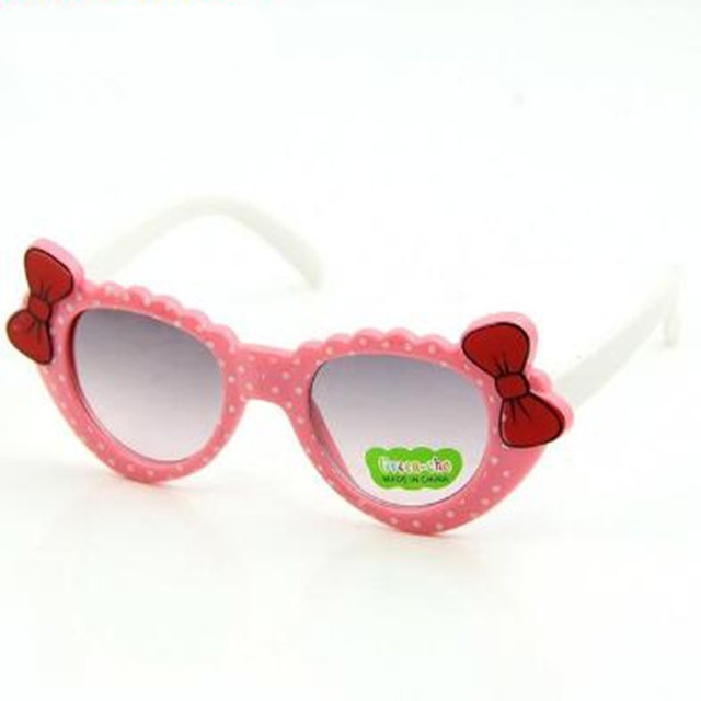 Cute Baby Kids Sunglasses Girls Polka Dot Glass Children Bow Eyewear Gafas De Sol ninas Child Sunglasses oculos de sol meninas