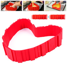 New 1PC  Arrival Mode  Silicone Food grade DIY Lovely Red Color Silicone Cake Mold #88315