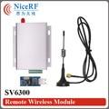 2 sets SV6300 3 Вт Si4432 | 433 мГц RS485 Интерфейс | 6 км Ультра-Длинные Дистанции и Высоко-комплексная РФ Модуль