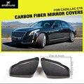 Авто-Стайлинг углеродное волокно Замена боковое зеркало Reaview крышки для Cadillac CT6 2016 2017