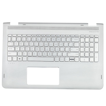 New Palmrest & Backlit Keyboard For HP ENVY X360 M6-AQ 857283-001 Silver Free Shipping new for hp envy m6 m6 n top upper case palmres free shipping 774153 001 760040 001
