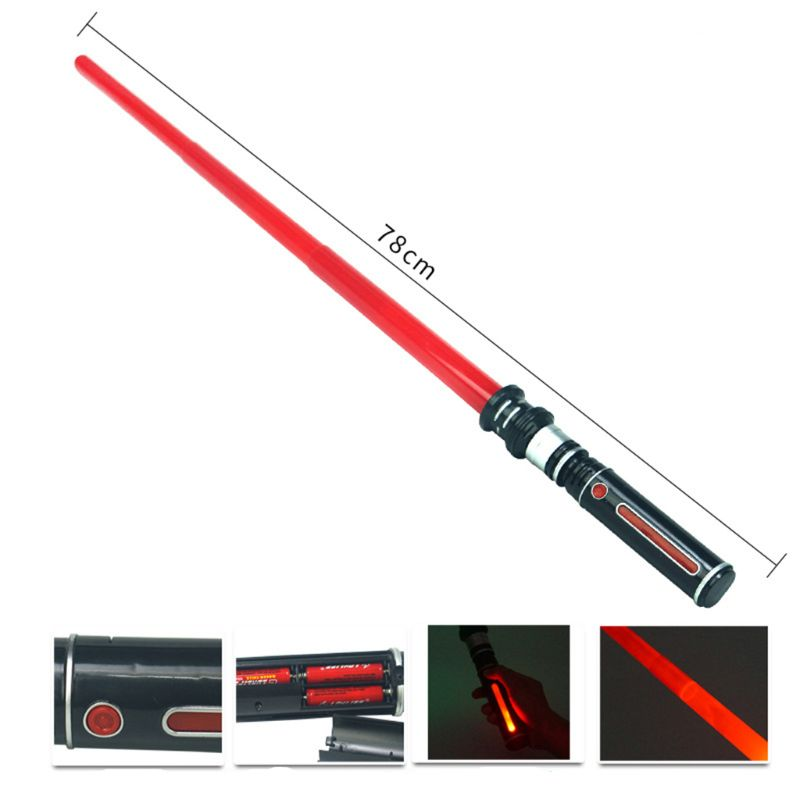 New Telescopic Lightsaber Toys Flashing Sword Cosplay Luminous Music Star Laser Toy Swords Kids Toy Boys Gift  Y51E
