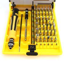 45 en 1 juego de destornilladores de precisión magnético torx Herramienta destornillador torx herramientas para la reparación del teléfono kit profesional