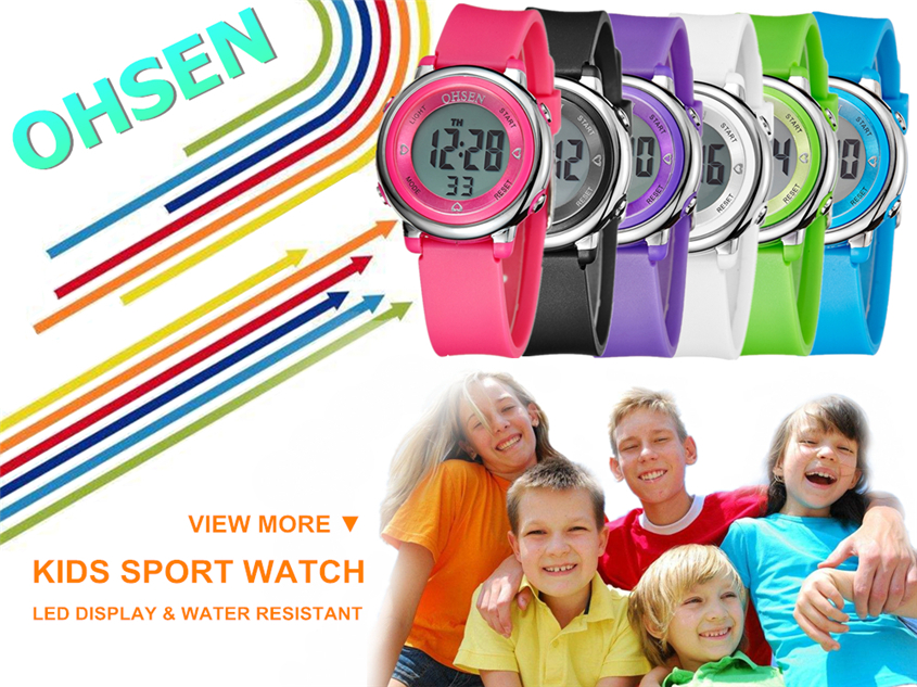 2018 OHSEN Brand Digital LCD Kids Girls Fashion Wristwatch Cute Girl Rubber Strap 50M Waterproof Child Watches Alarm Hand Clocks (13)