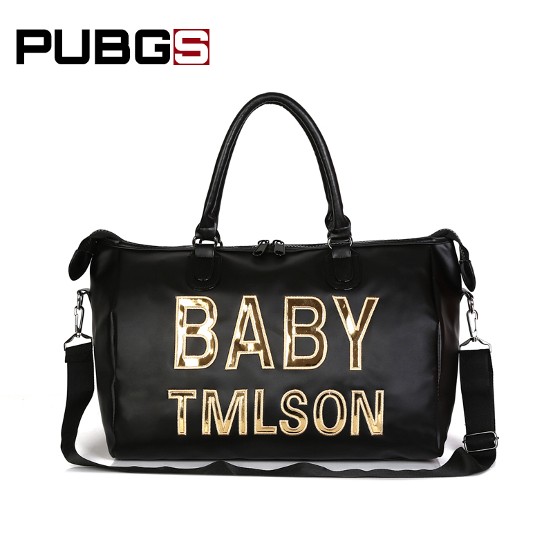Womens Travel Bags Fashion Oxford Trends Personality English Decoration Wild Large Waterproof Wear-resistant 2018 PUBGS New