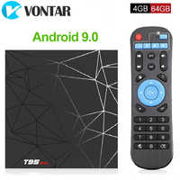 Android Caixa TV 9.0 GB 32 4GB 64GB H6 T95 Max CAIXA de TV Inteligente Allwinner Quad Core 6K T95MAX HDR 2.4GHz Wifi Google Jogador Set Top Box