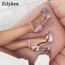 Eilyken Fashion Silves Serpentine Buckle Strap Sandals High Heel Open The Toe