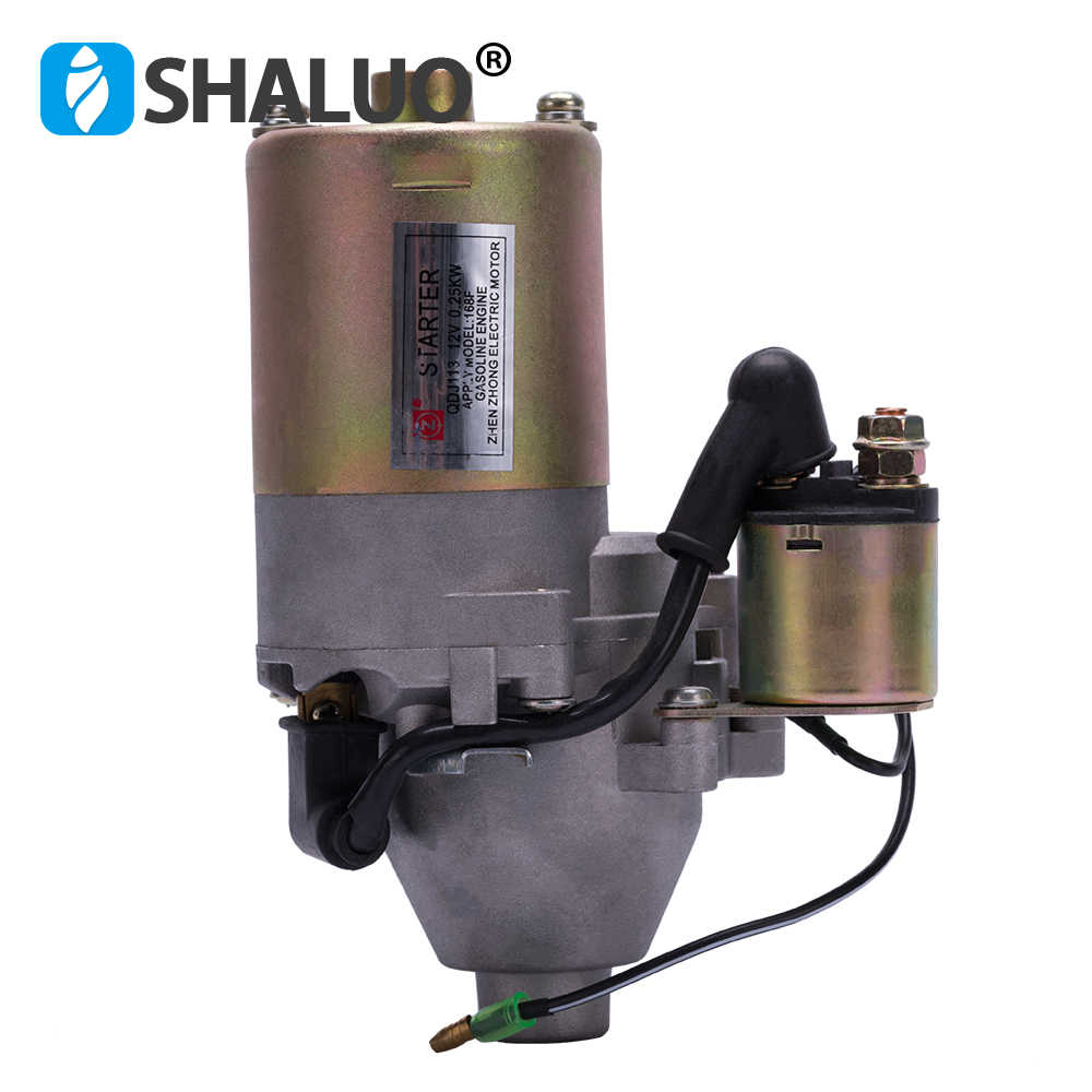 QDJ113 12V 0.25KW Gasoline Engine Electric Motor Starter apply 5.5hp 168F Diesel engine starter motor scooter kit specification