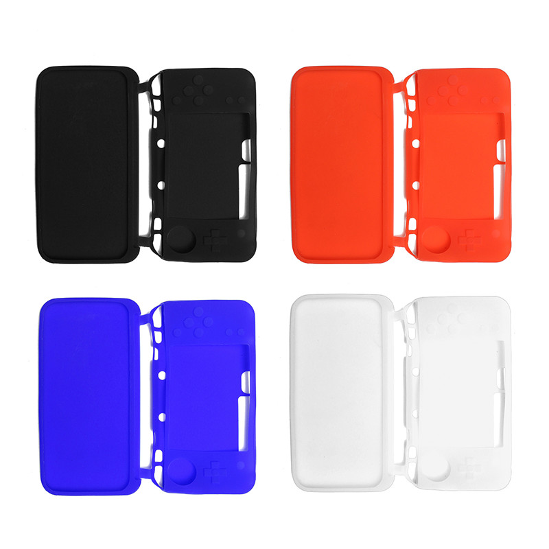 Silicone Case For Nintendo New 2DS XL/LL Black White Blue Red Protects Dust Sweat Scratc ...