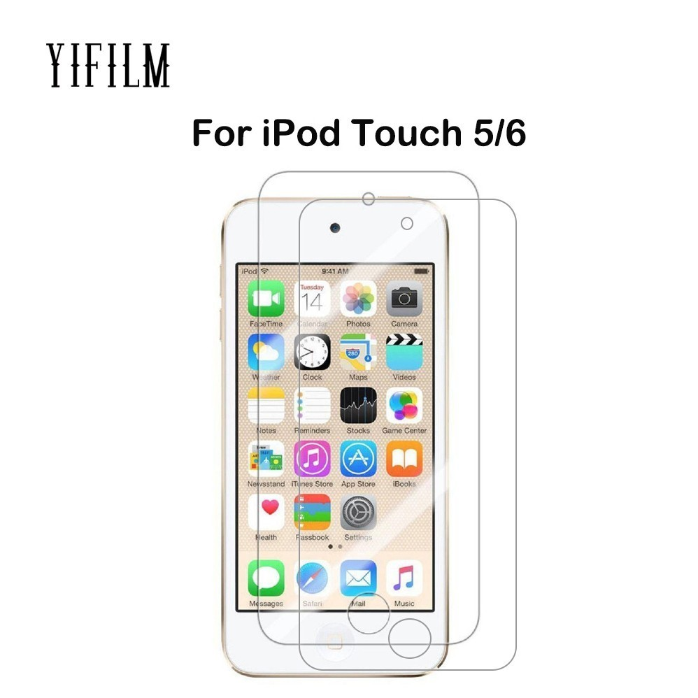 For Apple iPod Touch 6th Gen 5th Generation Transparent TPU Back Cover Case 9H 0 3MM 2 5D Tempered Glass Film for iPod Touch6 in Fitted Cases from Cellphones Telecommunications
