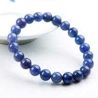 8mm Genuine Natural Tanzanite Blue Gemstone Bracelet Round Beads Stretch Woman Beads Man Crystal Party Bracelet AAAAA Wholesale
