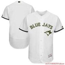 2eae9df46 MLB Men s Toronto Blue Jays Baseball White 2017 Memorial Day Authentic  Collection Flex Base Team Jersey